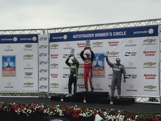 Sebastien Bourdais win Dual in Detroit race one