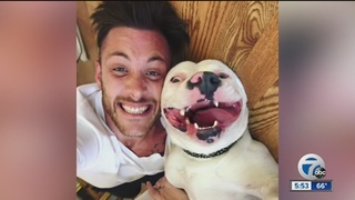 Smiling dog & his new dad light up the internet
