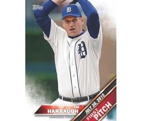 Jim Harbaugh gets his own Topps baseball card