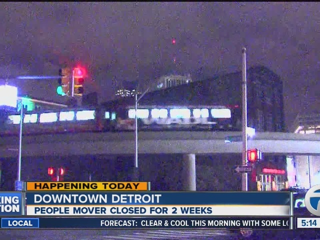 Detroit People Mover now closed for two weeks