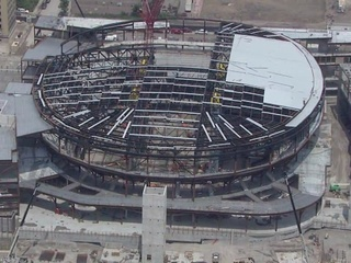 VIDEO: Sub-roof going up on Little Caesars Arena