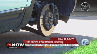 Tire thieves strike a Macomb home