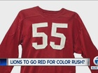 Rumors: Lions may go red for color rush uniforms