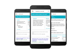 Google refining symptom search results