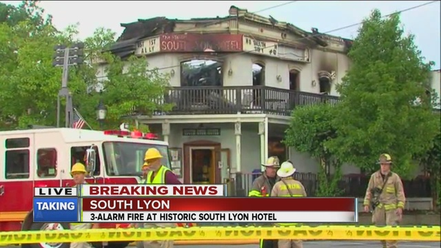 Historic South Lyon Restaurant Destroyed By Fire