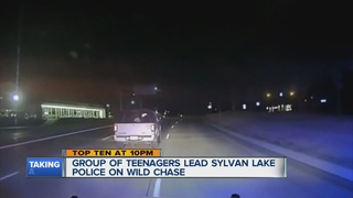 VIDEO: Teens lead cops on a chase in Sylvan Lake