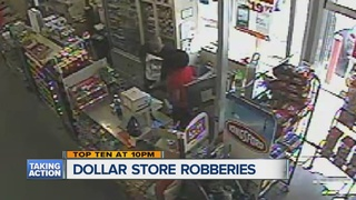 Armed thieves target Detroit dollar stores
