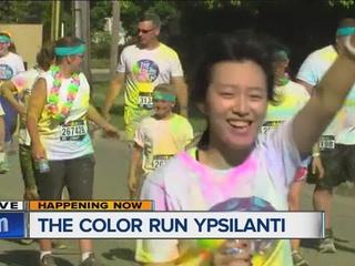 Color Run makes a splash in Ypsilanti