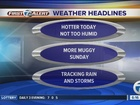 FORECAST: Dry today, but storms possible Sunday