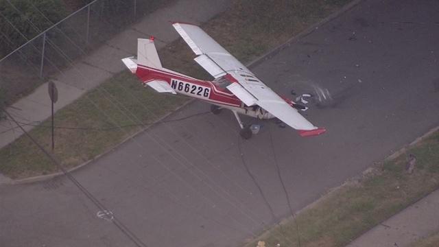 Plane down near City Airport