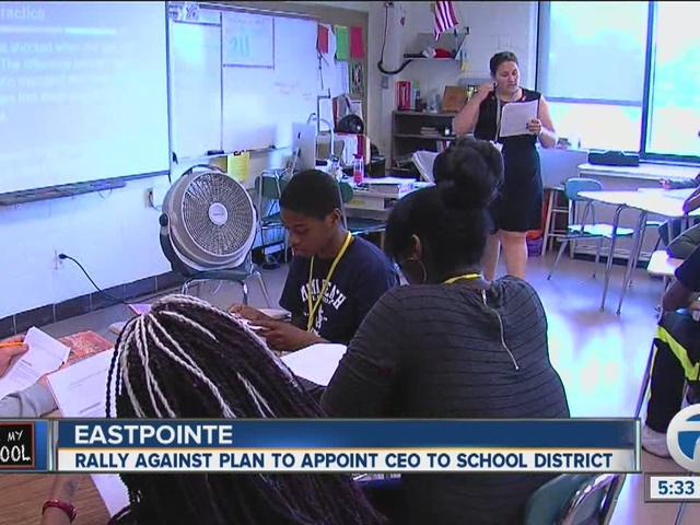 East Detroit Schools rallies with local leaders against state takeover