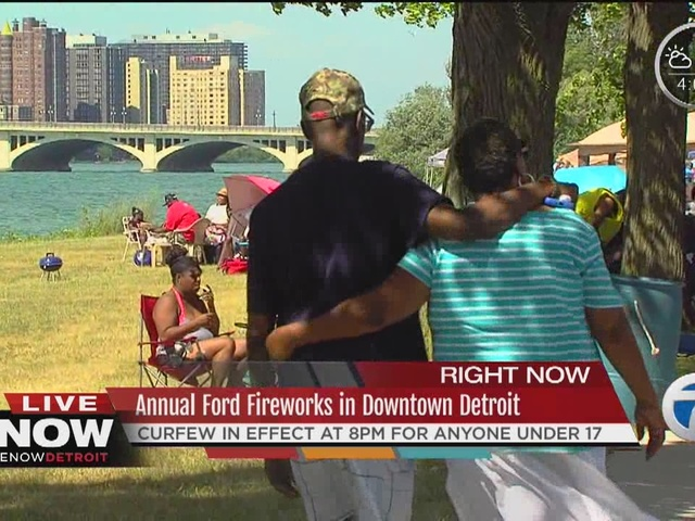 Families ready for Detroit fireworks