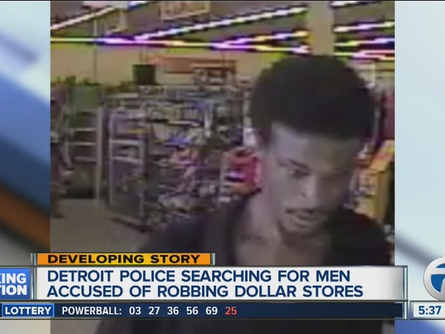 Police search for suspects targeting dollar stores on Detroit's west side