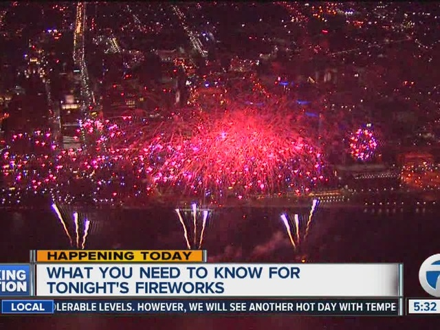 What you need to know for the Detroit fireworks show tonight