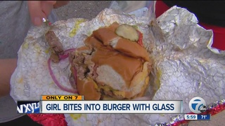 Child hurt after glass found in Wendy's burger