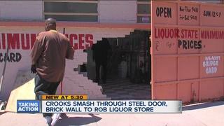 Smash & Grab burglars bust through wall at store