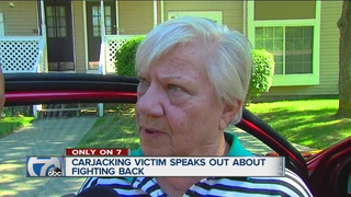 Elderly woman describes attack by carjacker