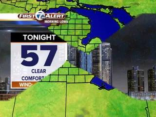 FORECAST: Not as chilly tonight
