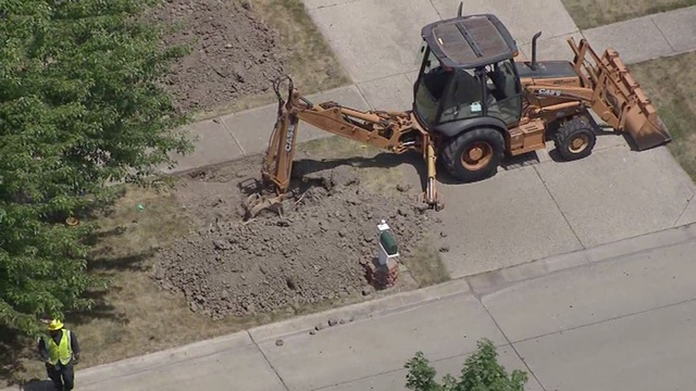 Several homes evacuated due to gas main break
