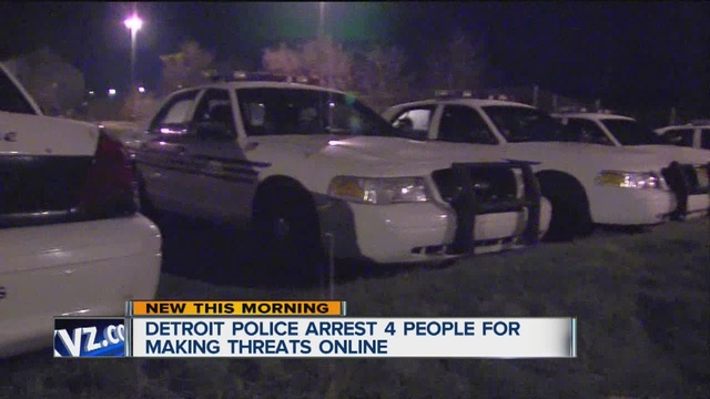 Four people arrested for police Facebook threats