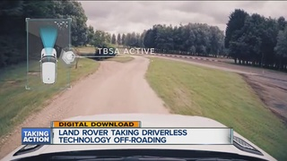 Land Rover taking driverless tech off-roading