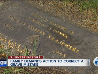 Family demands action to correct grave mistake