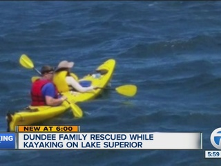 Teen rescued from kayak on Lake Superior