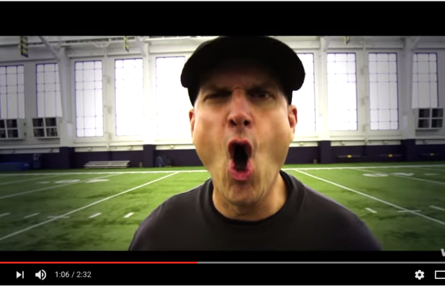 Jim Harbaugh Is Now Screaming His Face Off In Michigan Rap Videos