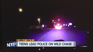Teens in custody following wild police chase