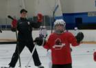 Larkin runs hockey camp at hometown rink