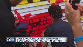Pastor Joel Osteen helps clean up Detroit