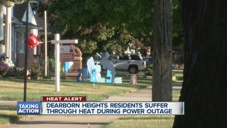 Power outage hits during Friday's high heat