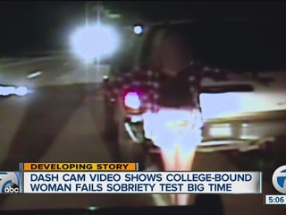 Young woman drives drunk over lawn at city hall