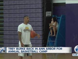 Former U-M star Burke hosts camp in Ann Arbor