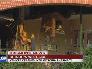 Vehicle smashes into Detroit pharmacy