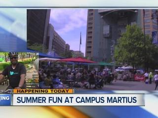 Fun at Campus Martius Park