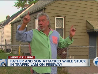 Father, son involved in bizarre freeway attack