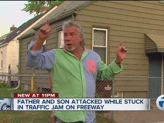 Father, son involved in bizarre freeway attack