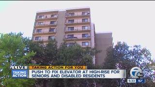 Seniors need high rise elevator fixed