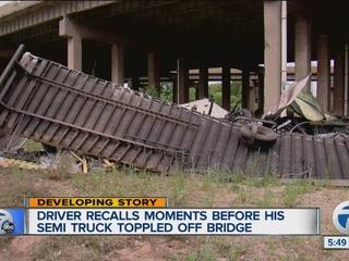 Driver talks about drop from Rouge River bridge