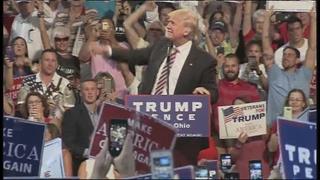 Donald Trump speaks in Toledo, Ohio
