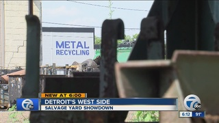 Neighbors not happy with Detroit salvage yard
