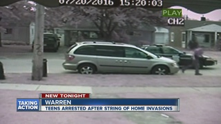 Several teens in custody after home invasions