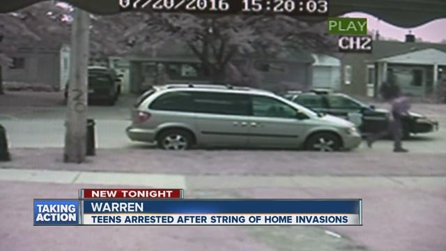 Several teens in custody in home invasions