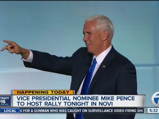 Trump's VP pick Mike Pence in Michigan today