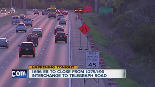 TRAFFIC: I-696 eastbound to close this weekend