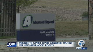 Neighbors battle landfill's truck traffic