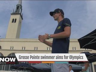 Baseball injury creates Olympic hope for swimmer