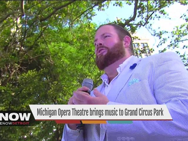 Michigan Opera Threatre brings music to Grand Circus Park