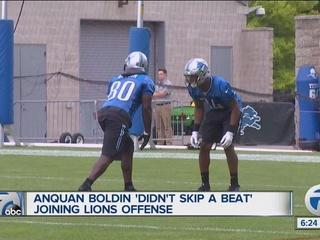 Boldin 'didn't skip a beat' joining Lions